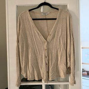 Urban Outfitters Waffle Knit Cardigan
